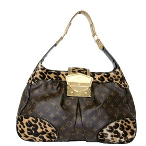 Louis Vuitton Leopard Louboutin Roses Murakami Neverfull Satchel in Monogram