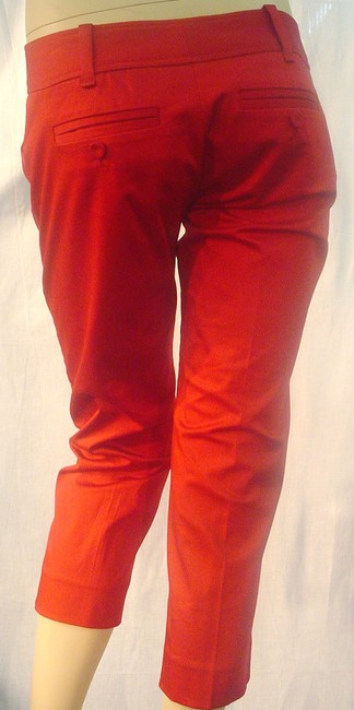 The Limited Cropped Pants Dressy Capris Red Image 1