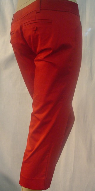 The Limited Cropped Pants Dressy Capris Red Image 3
