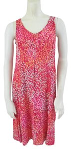 J. Jill short dress Pink Rayon Sleeveless on Tradesy