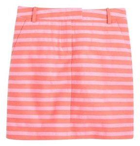 J.Crew Mini Pockets Textured Mini Skirt Parisian Pink/Saturated Coral