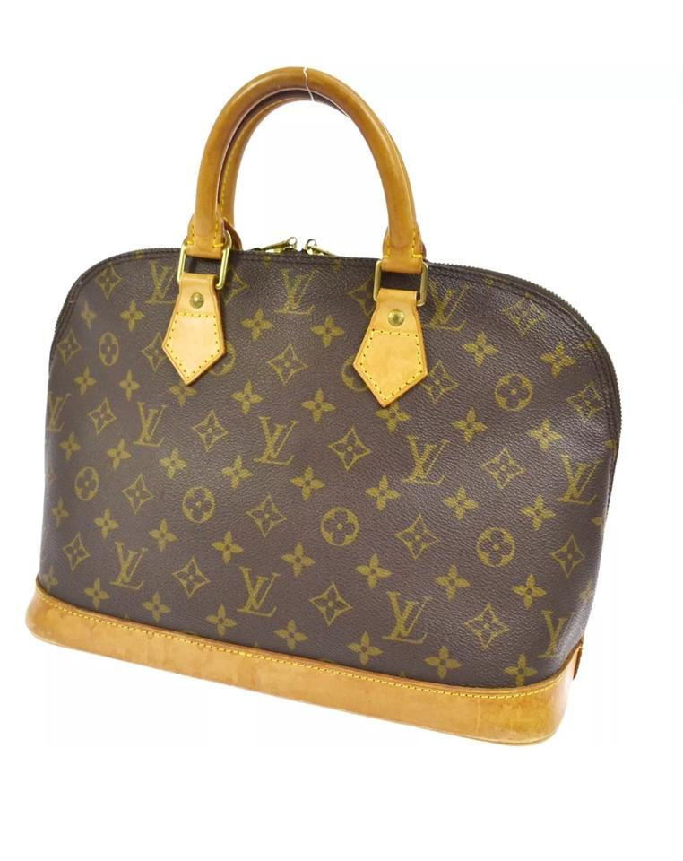 a9d604abc187 Louis Vuitton Alma Monogram (Comes with Pad Lock and Key and Dust Bag) Brown  Canvas Satchel - Tradesy