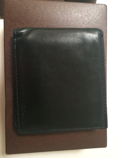 Coach Coach Leather Wallet Navy