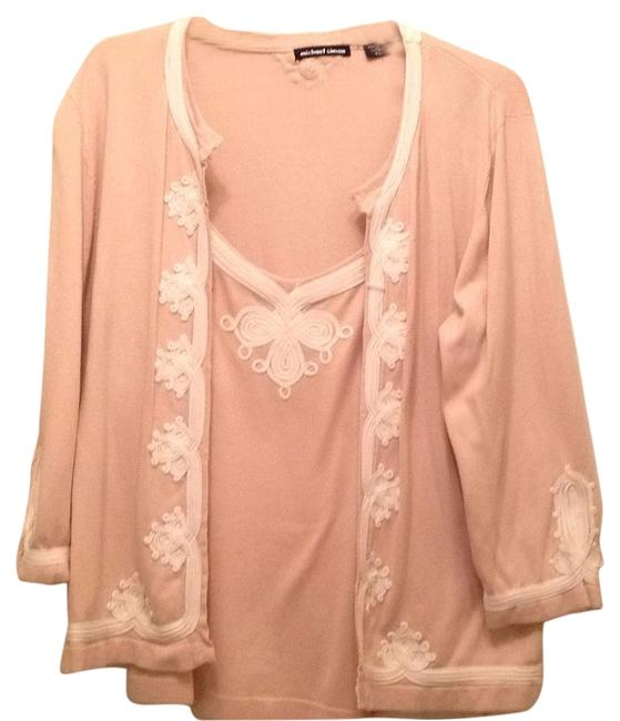 Preload https://item4.tradesy.com/images/michael-simon-pink-and-cream-xl-sweaterpullover-size-16-xl-plus-0x-15716308-0-1.jpg?width=400&height=650