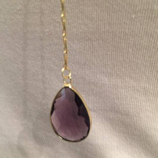 sapanyu Pear-Cut Amethyst Chakra Y-Drop Necklace Image 4