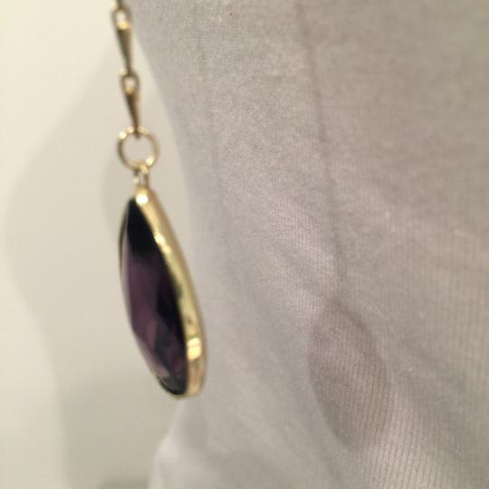 sapanyu Pear-Cut Amethyst Chakra Y-Drop Necklace