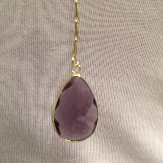 sapanyu Pear-Cut Amethyst Chakra Y-Drop Necklace Image 6
