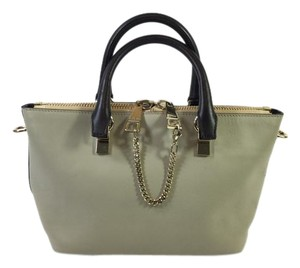 Chloé Chloe Leather Gray Satchel in Gray/Black