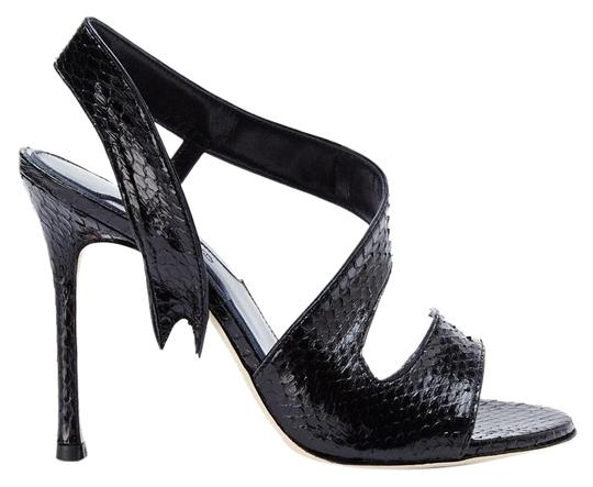Preload https://img-static.tradesy.com/item/15716854/chelsea-paris-black-new-made-in-italy-genuine-snakeskin-leather-sandals-size-us-75-0-2-540-540.jpg