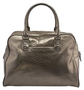 Michael Kors Leather Satchel in Grey