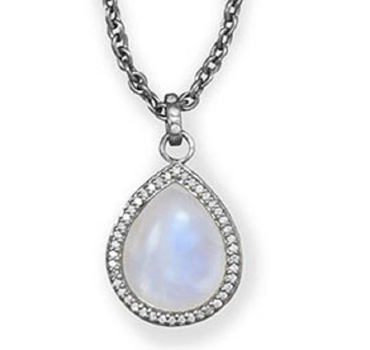 Preload https://img-static.tradesy.com/item/15717178/sterling-silver-gray-diamonds-16-2-extension-midnight-pear-drop-with-necklace-0-3-540-540.jpg