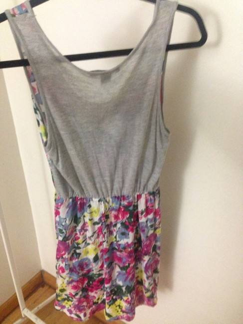 Forever 21 short dress floral pink blue/ gray on Tradesy