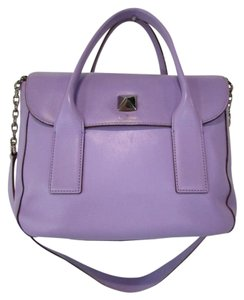 Kate Spade New Bond Street Florence Leather Satchel in Purple