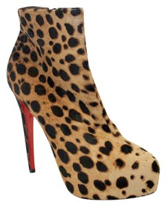 Christian Louboutin Miss Miss Clinchy 140 Mm Ankle Print Leopard Boots