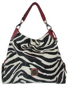 Dooney & Bourke Zebra Print Shoulder Hobo Bag