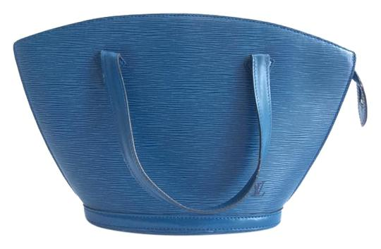 Louis Vuitton Epi Leather St Jaques Tote in Blue