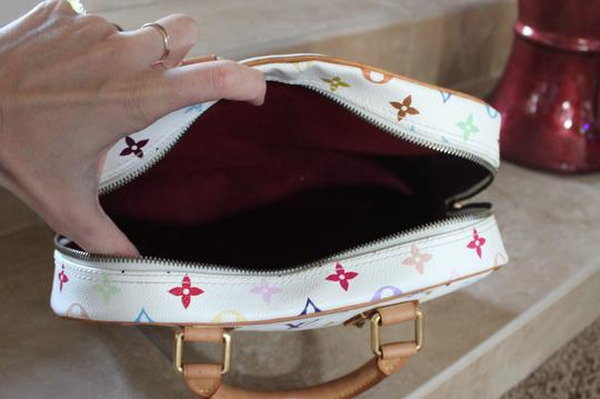 Louis Vuitton Vachetta Leather White Monogram Satchel in Multi-color