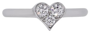 Tiffany & Co. Tiffany & Co. Platinum Diamond Heart Ring