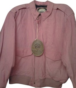 Paris Sport Club Bomber Suede Sexy Pink Leather Jacket