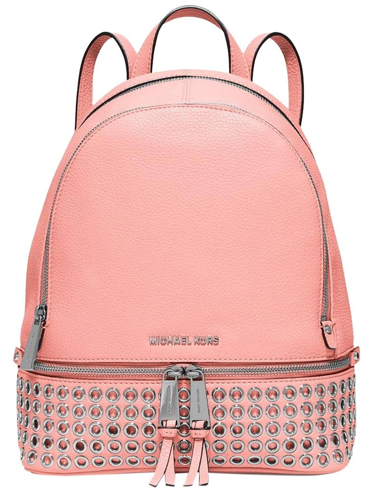 186dba85dcf Michael Kors Medium School Travel Pale Pink Leather Backpack - Tradesy