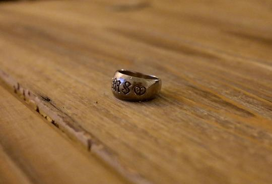 Anthropologie Pure 925 sterling silver initial letter ring