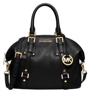 Michael Kors Leather Bedford Satchel in Black