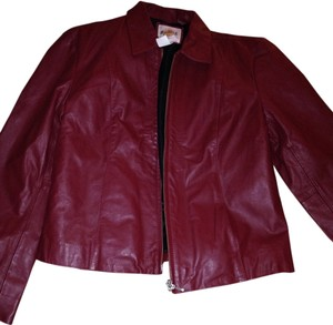Hard Rock Red Leather Jacket