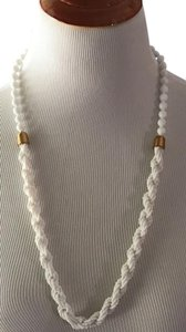 Miriam Haskell Vintage long Signed Miriam Haskell white bead necklace