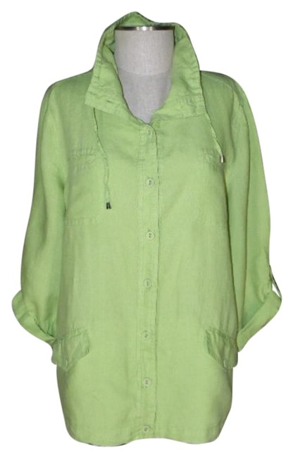 Preload https://item3.tradesy.com/images/chico-s-lime-green-button-front-spring-jacket-size-14-l-15718597-0-1.jpg?width=400&height=650