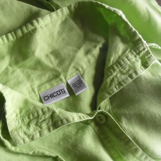 Chico's Button Front lime green Jacket