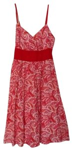 Derek Heart short dress Red & White Light Weight on Tradesy