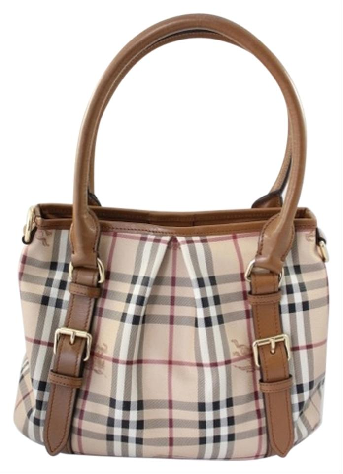 6ea4c7dc4b4c Burberry Northfield Tan Coated Canvas and Leather Shoulder Bag - Tradesy