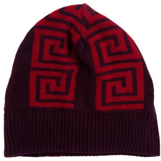 Versace Versace Red Knitted Beanie Hat