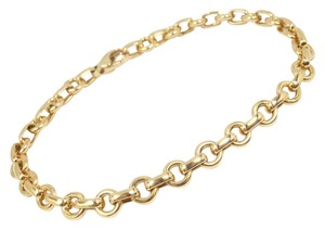 Tiffany & Co. Tiffany & Co 18K Yellow Gold Doughnut Link Charm Bracelet 8