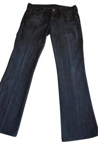 7 For All Mankind A Pocket Dark Rinse Premium Size 30 Flare Leg Jeans-Dark Rinse