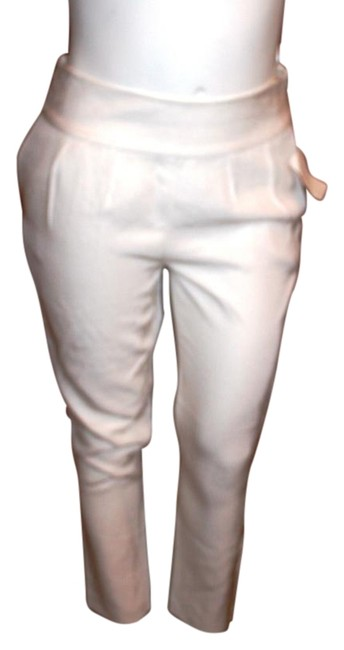 Preload https://item5.tradesy.com/images/halston-white-heritage-women-ankle-trousers-size-10-m-31-15719329-0-1.jpg?width=400&height=650