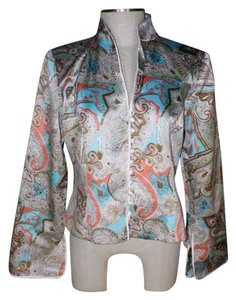 JS Collections Paisley Silk brown/aqua/coral/ivory Blazer