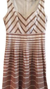 Max and Cleo short dress White and brown on Tradesy