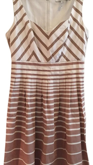 Preload https://item2.tradesy.com/images/max-and-cleo-white-brown-above-knee-short-casual-dress-size-4-s-15719536-0-1.jpg?width=400&height=650