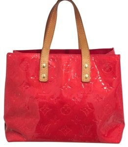 Louis Vuitton Vernis Reade Tote in Red