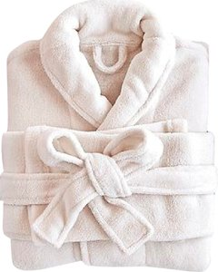 ALBERTO GUARDIANI RESERVED Brand New in Package Luxurious Plush Ivory Robe