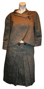 Hugo Boss HUGO BOSS WOMEN GRAY PLAIDS SKIRT& BLAZER SUIT SIZE FR 40 USA 8, FR 36, USA 4