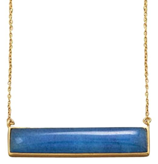 Preload https://item4.tradesy.com/images/gold-and-blue-162-extension-14-karat-plated-aventurine-bar-necklace-15719698-0-1.jpg?width=440&height=440