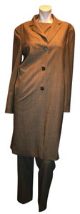 Max Mara MAX MARA WOOL /LYCRA MADE IN ITALY 3 PIECES SET WOMEN PANTS SUIT LONG GRAY 4