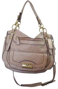 Coach Satchel in Light Gold Metallic