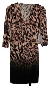 Jennifer Lopez Print Animal Print Gold Dress