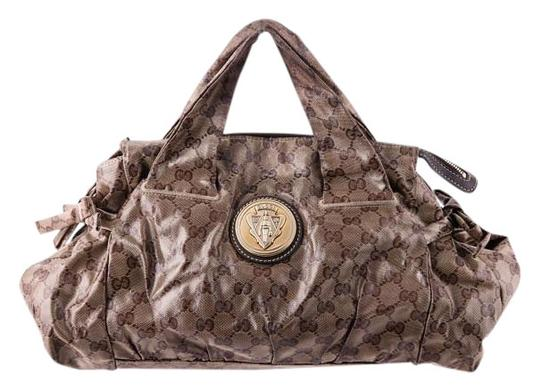 Preload https://item4.tradesy.com/images/gucci-hysteria-guccissima-monogram-patent-slouch-hobo-tote-brown-coated-canvas-shoulder-bag-15719863-0-1.jpg?width=440&height=440
