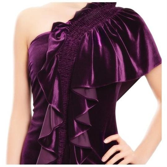 Badgley Mischka Red Berry Polyester/Spandex Formal Bridesmaid/Mob Dress Size OS