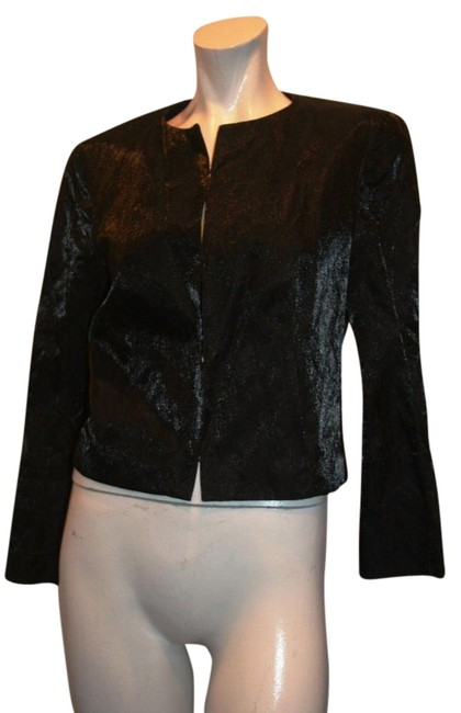 Preload https://img-static.tradesy.com/item/15719995/hugo-boss-black-metallic-blazer-usa-fr42-it-44-uk-12-blouse-size-10-m-0-1-650-650.jpg