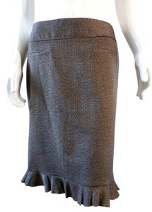 Larry Levine Pencil Straight Stretchy 7653 Skirt Brown